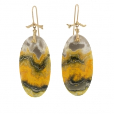 Bumble Bee Jasper Slice Earrings Image
