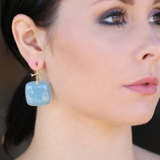 Aquamarine Slice Branch Earrings Image