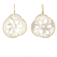 Small Lotus Root Mother of Pearl Earrings Image