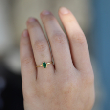 Small 18k Gold Emerald Ring Image