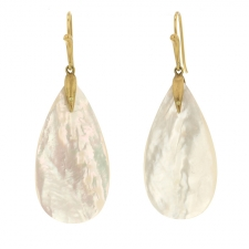 Mother of Pearl Bird Earrings Image