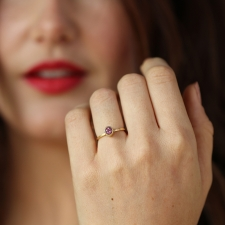 Pink Spinel Gold Ring Image