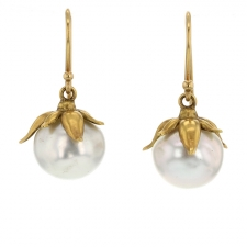 Natural South Sea Pearl Bud Earrings Image