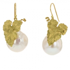 Pearl and Gold Grape Earrings Image