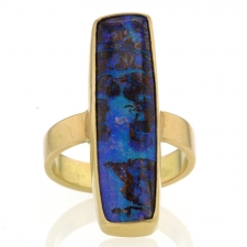 Opalized Wood Gold Ring Image