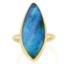 Boulder Opal Marquis Ring Image