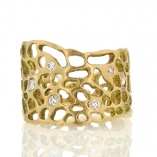 Sea Fan Ring 18k Gold with Diamonds Image
