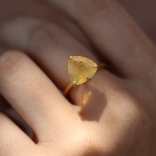 Fire Opal 18k Gold Claw Ring Image