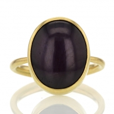 Chatoyant Ruby Gold Ring Image