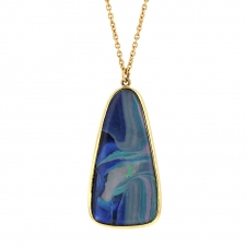 Boulder Opal 18k Gold Drop Necklace Image
