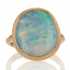 Boulder Opal 18k Rose Gold Sculptural Ring Image