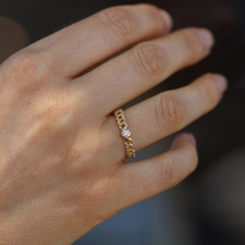 Gold Loop Ring with Diamond Image