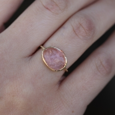 Open Backed Morganite Gold Ring Image