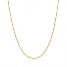 18k Gold 1mm Snake Chain Necklace Image