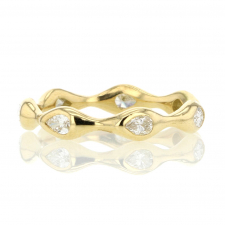 Pear Eternity Diamond 18k gold Ring Image