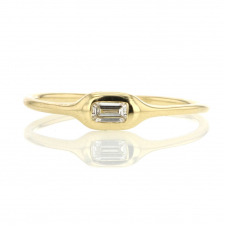 Diamond Emerald Cut Stacking Gold Ring Image