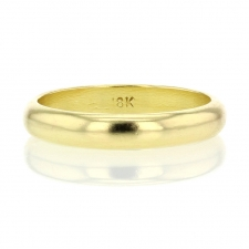 18k Gold 4mm Band Ring Image