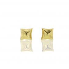 Tiny Square 18k Gold Diamond Earrings Image