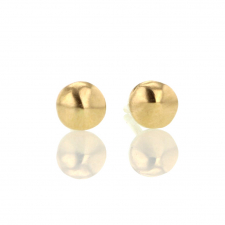 Solid Bead Gold Stud Earrings Image