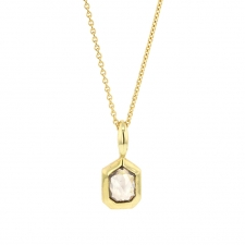 Rose Cut Tag Shaped Champagne Diamond Necklace Image