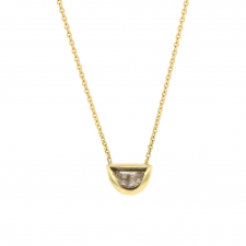 Diamond Halfmoon Shape 18k Gold Necklace Image