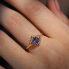 Heads or Tails Purple Sapphire 18k Gold Ring Image