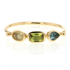 Sapphire and Tourmaline Simple Ring Image