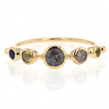 Moonstone, Sapphire and Diamond Ring Image