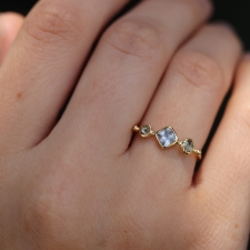 Pale Pink Sapphire and Diamond Band Image