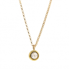 Champagne Diamond Drop Necklace Image