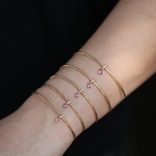 Diamond and Pink Sapphire 18k Rose Gold Slinky Bracelet Image