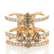 White and Colored Diamond Gold Ring Image