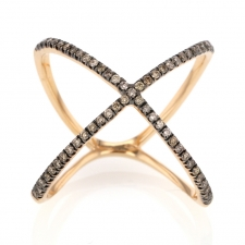Fancy Diamond X 18k Rose Gold Ring Image