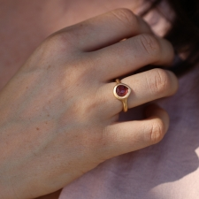 Pink Teardrop 18k Tourmaline Ring Image