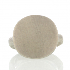 Silver Mirror Signet Ring Image