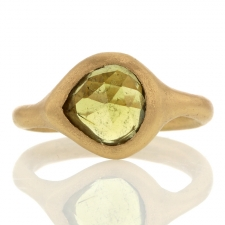 Olive Colored Tourmaline Gold Ring Image