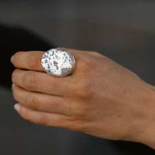 Natural Silver Statement Ring Image