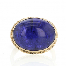 All Gold Tanzanite Oval /Ruffled Ring Image