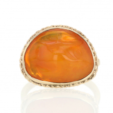 Mexican Fire Opal 14k Yellow Gold rRing Image