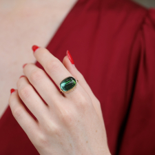 Ombre Blue Green Tourmaline Gold Ring Image