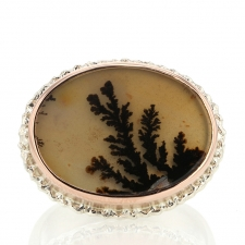 Oval Dendritic Agate Ring Image