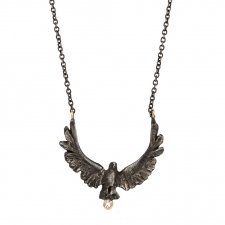 Upward Eagle and Diamond Necklace Image