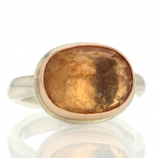 Imperial Topaz Inverted Faceted Ring Image
