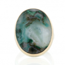 Vertical Gem Silica Drusy Ring Image
