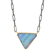 Triangular Boulder Opal Necklace Image