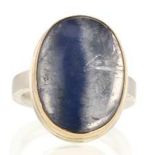 Dumortierite Vertical Oval Ring Image