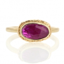 All Gold African Ruby Oval Ring Image