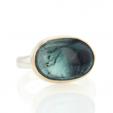 Oval Ombre Indicolite Tourmaline Ring Image