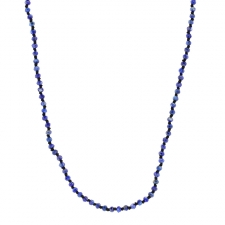 Long Lapis Faceted Necklace Image