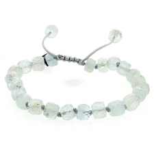Aquamarine 8mm Faceted Bracelet Image